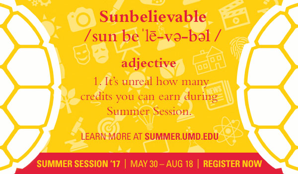 UMD Summer Sessions 2017