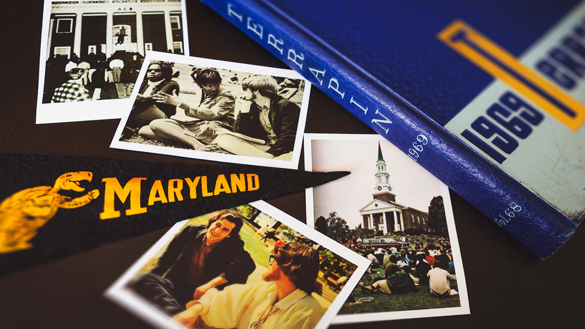 Graduates from UMD's Class of 1969, returning to campus for their 50-year reunion tomorrow, remembered unrest over the Vietnam War, the hippie movement and the infamous nude runners from their time as Terps. (Photos via the 1969 Terrapin yearbook)