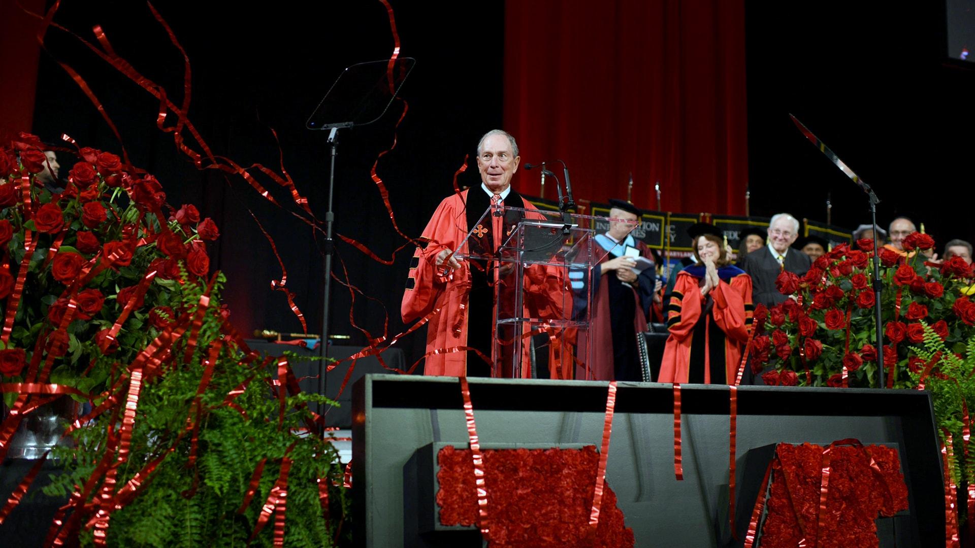 Bloomberg at graduation