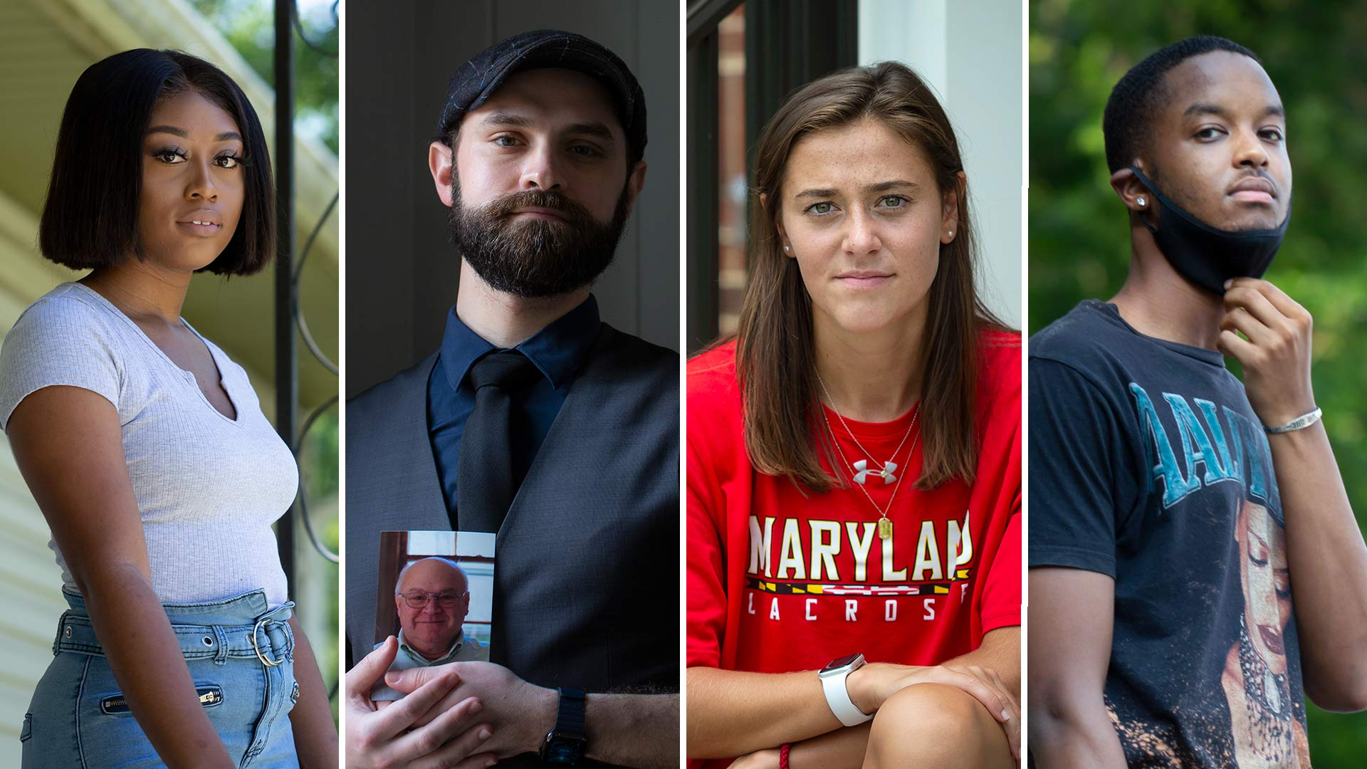 Whether in quarantine abroad, struggling for economic survival or weighing the health risks of marching in the streets, 10 Terps reveal their frustrations, pain and hope during the pandemic. (Photos by Stephanie S. Cordle)