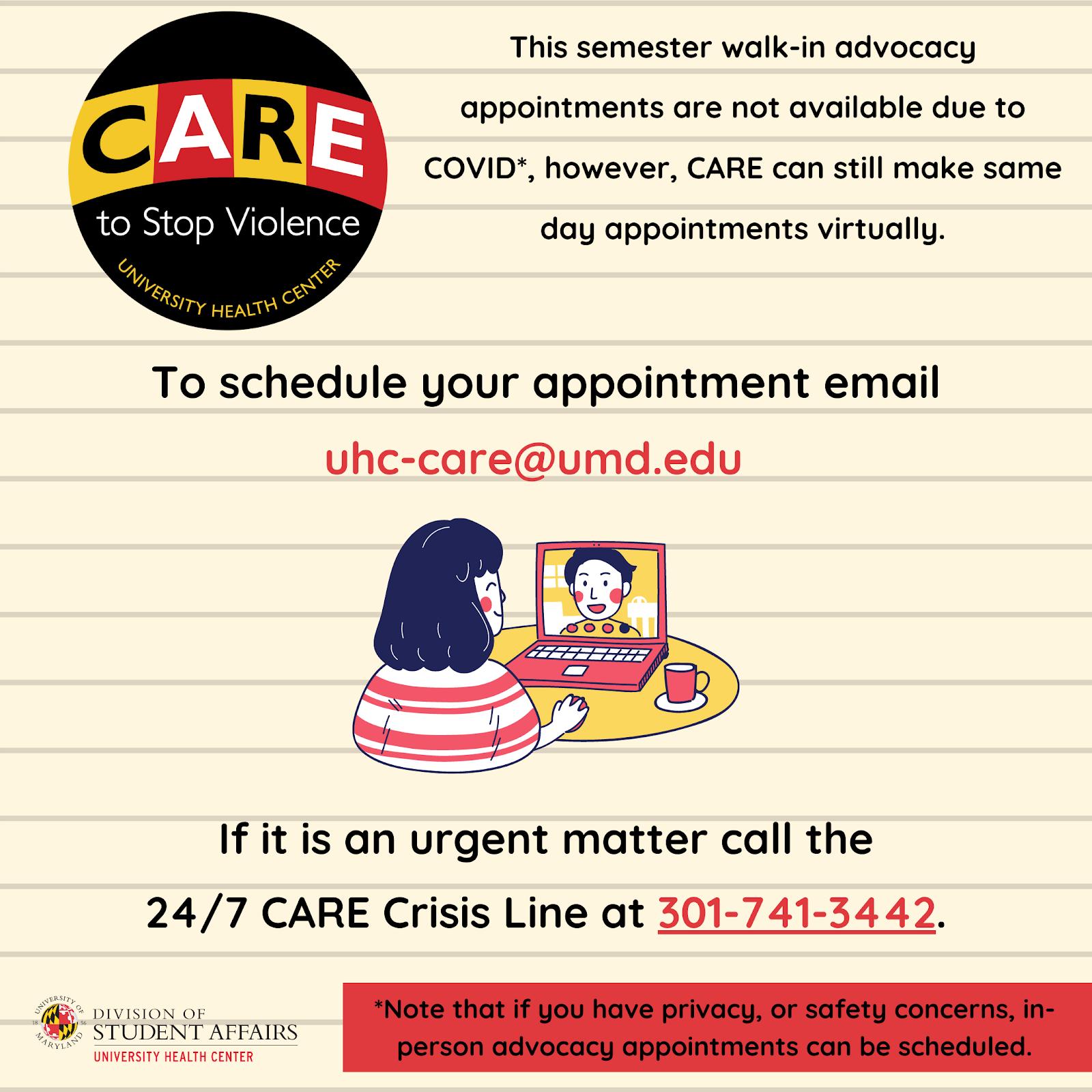Spring Semester CARE Advocacy