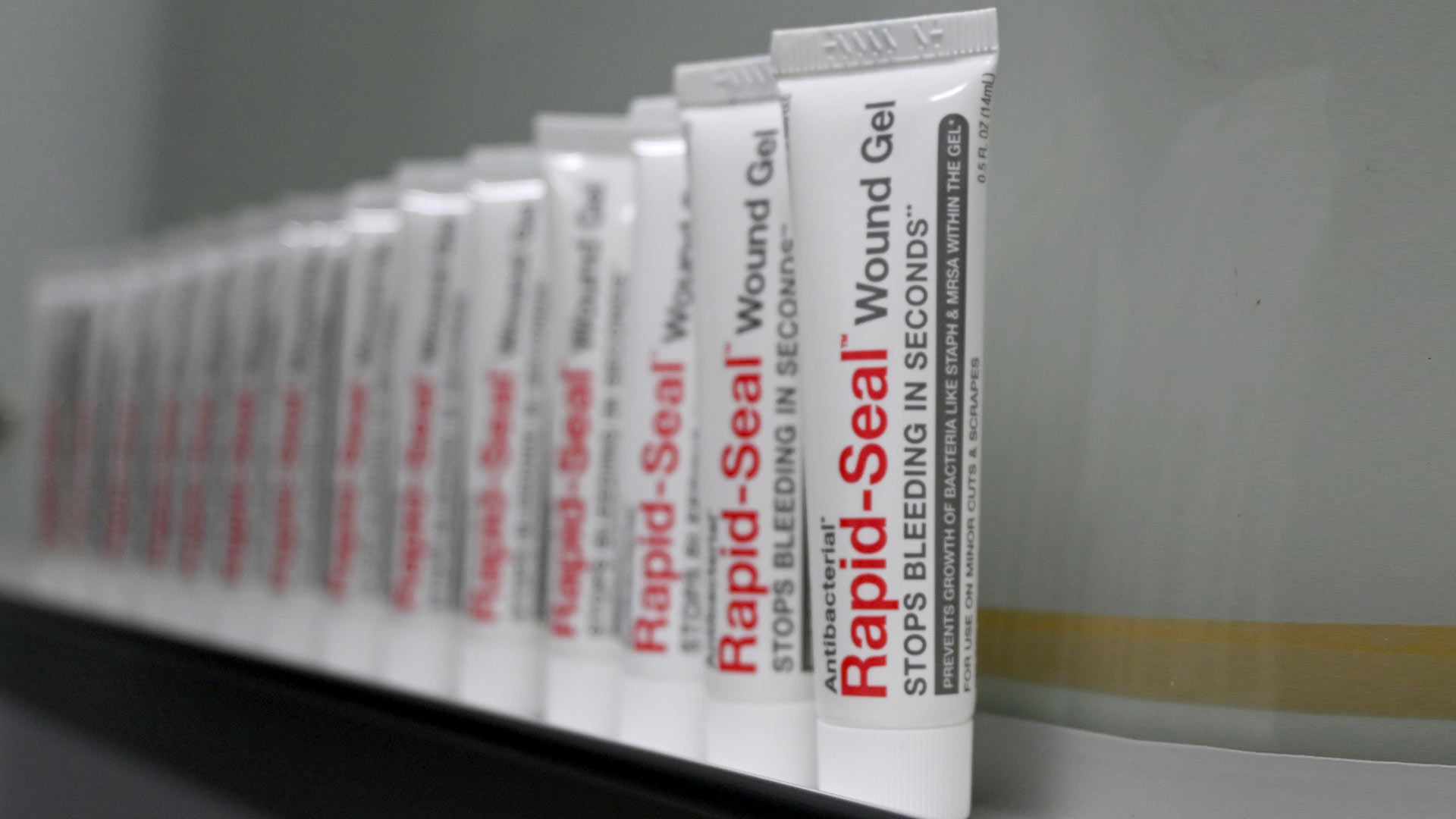 A UMD grad's new product to stop bleeding, which he began developing as a bioengineering student, is now available over the counter nationwide, as well as online. (Photo courtesy of Medcura)