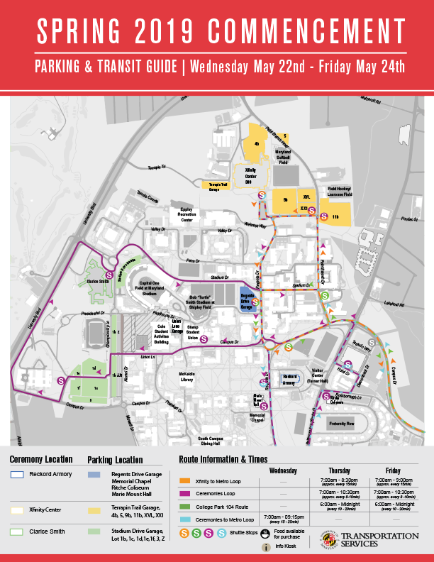 Parking, Shuttles & Accessibility | The University of Maryland on
