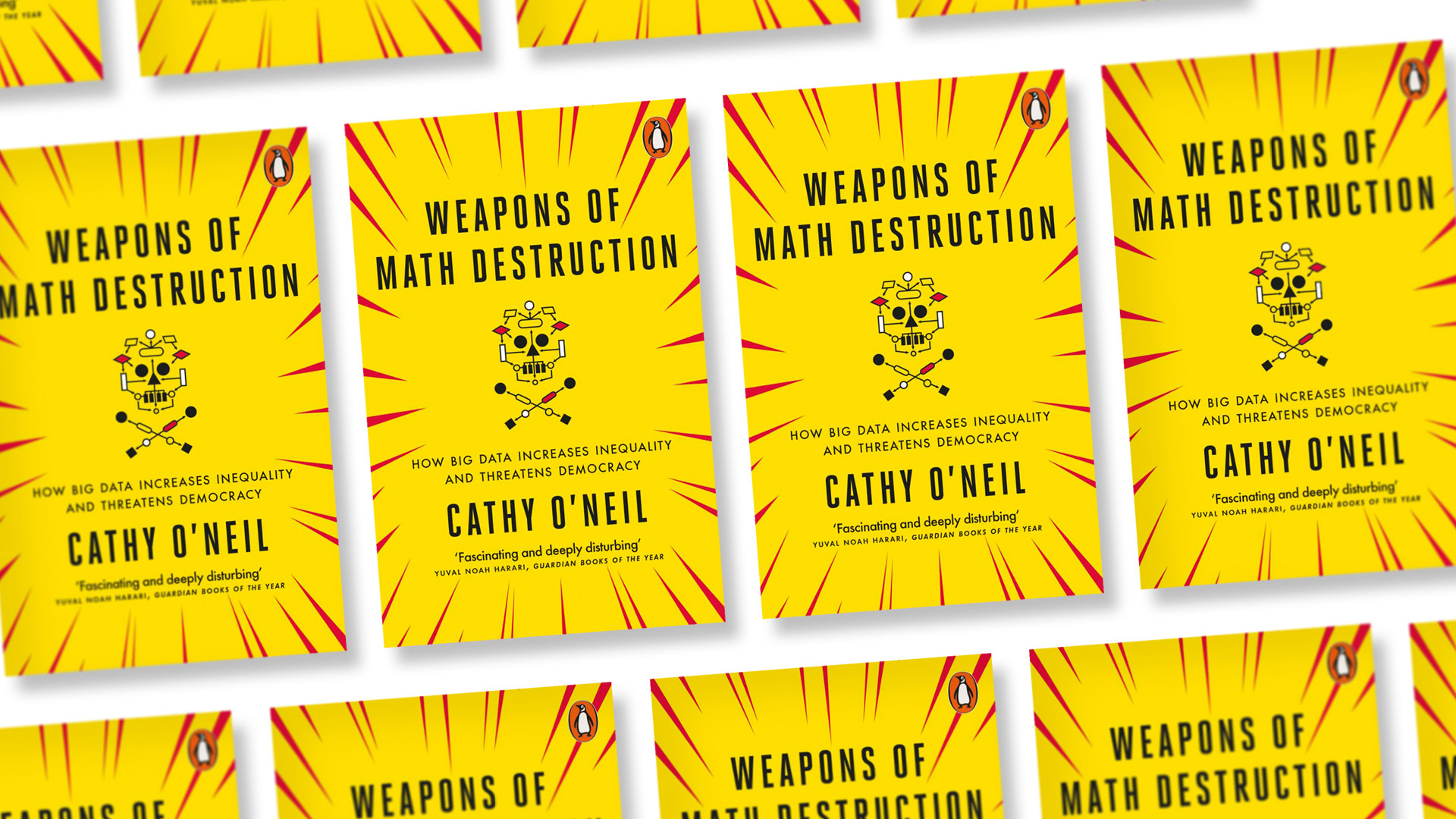 """In the 2020-21 First Year Book, """"Weapons of Math Destruction: How Big Data Increases Inequality and Threatens Democracy,"""" author Cathy O'Neil (below) argues that the mathematical models so ubiquitous in our daily lives reinforce discrimination and urges us to take a long, hard look at the impact of algorithms that influence the world fundamentally."""