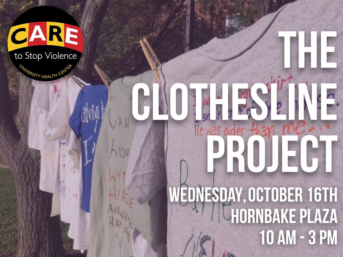Photo of the Clothesline Project