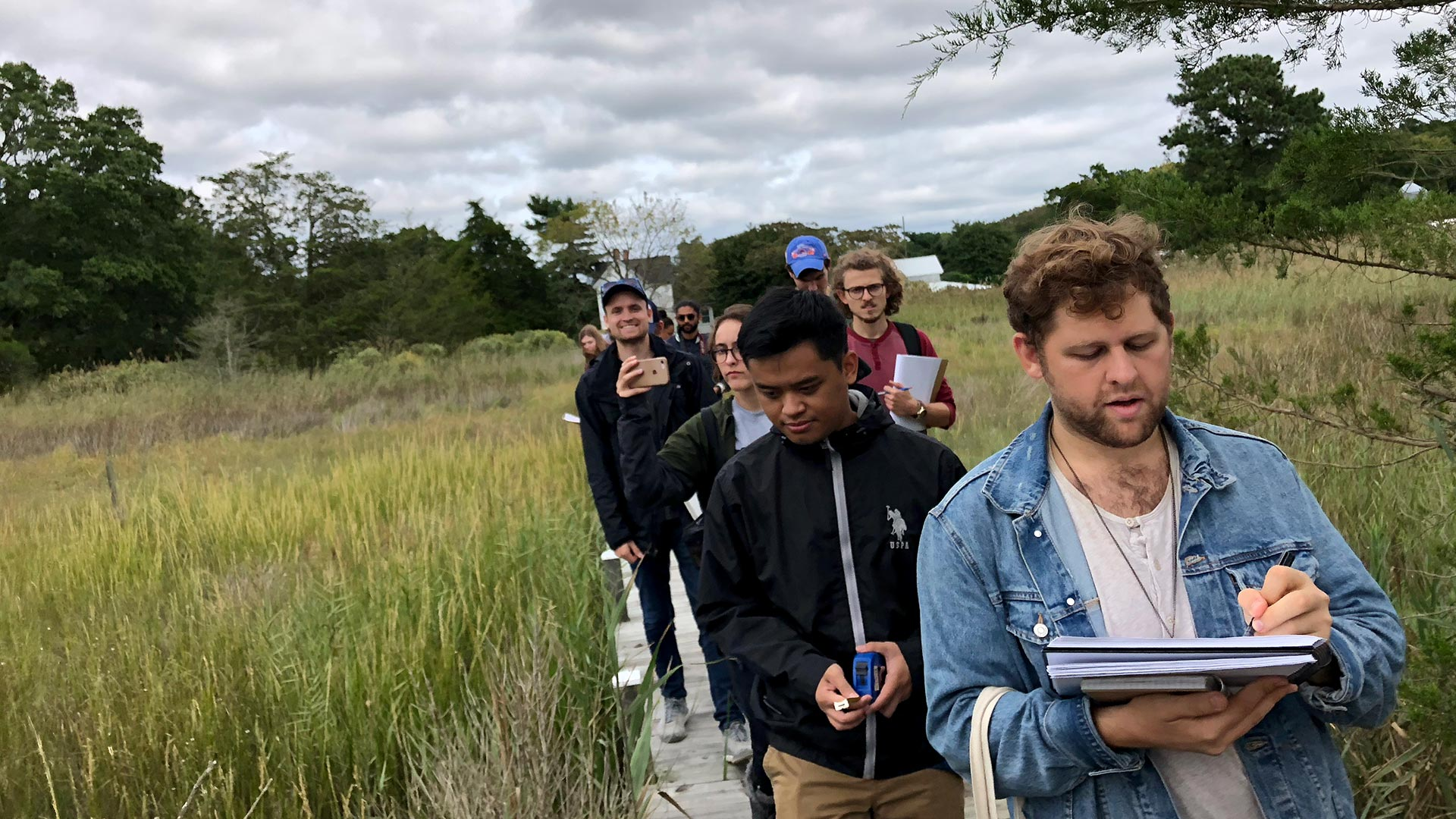 Students in a graduate design studio at the School of Architecture, Planning and Preservation are working with the Maryland Department of Natural Resources to develop proposals for a new research station on the Eastern Shore. (Photo by Zebi Brown)